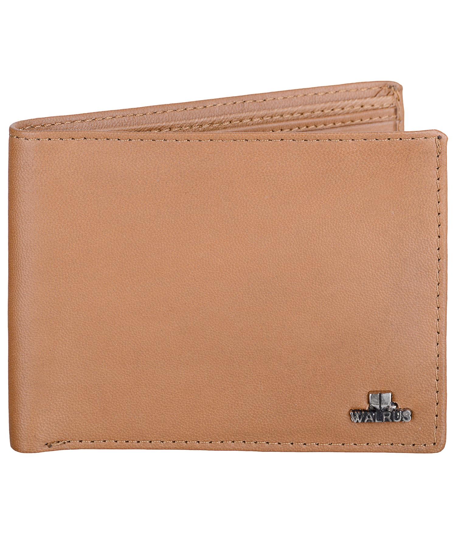 Walrus | Walrus Soft Beige Vegan Leather Men Wallet.