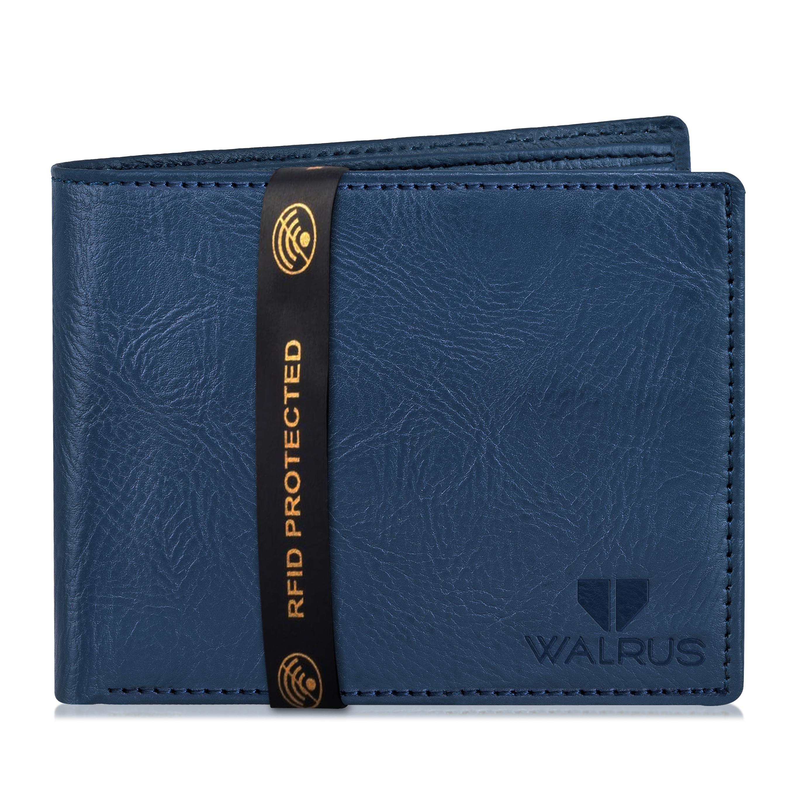 Walrus   Walrus Vet-III Blue Vagan Leather Men Wallet