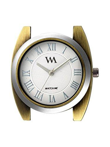 Watch Me   Watch Me Analog Quartz White Gold Black Leather Watch for Men and Boys WMAL-244 For Men