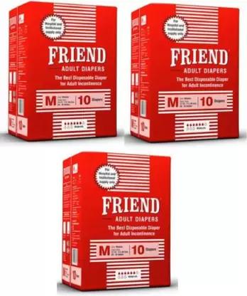 Nobel Hygiene | Nobel Hygiene Friend HOSPITAL Adult Diapers - M (10 Pieces x 3, Men & Women)