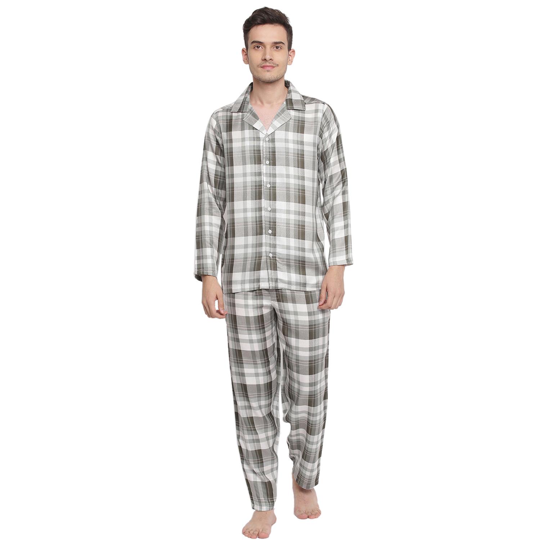 La Intimo | Notable check Pyjama Shirt set (Green)