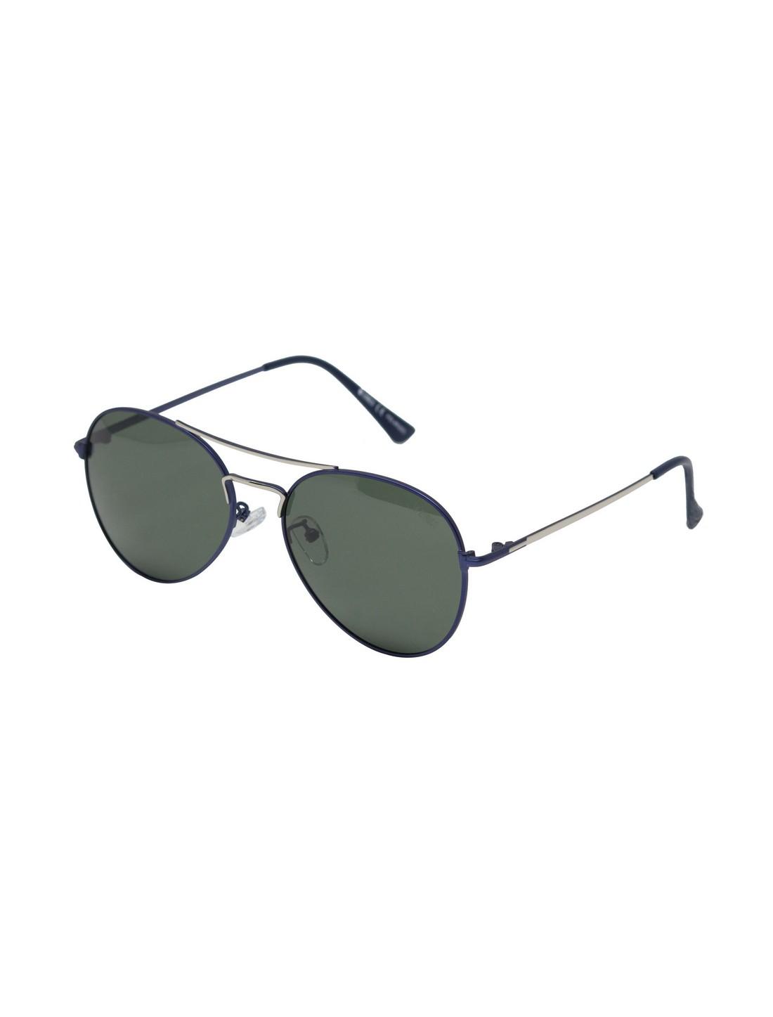ENRICO | ENRICO Virgo UV Protected & Polarized Unisex Sunglasses ( Lens - Green | Frame - Blue)