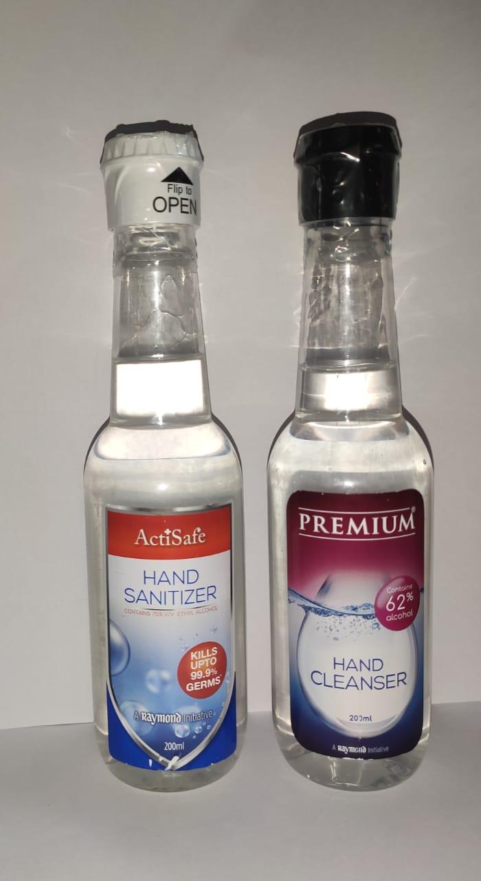 A Raymond Initiative   Raymond ActiSafe Hand Sanitizer & Premium Hand Cleanser - 200MLX2