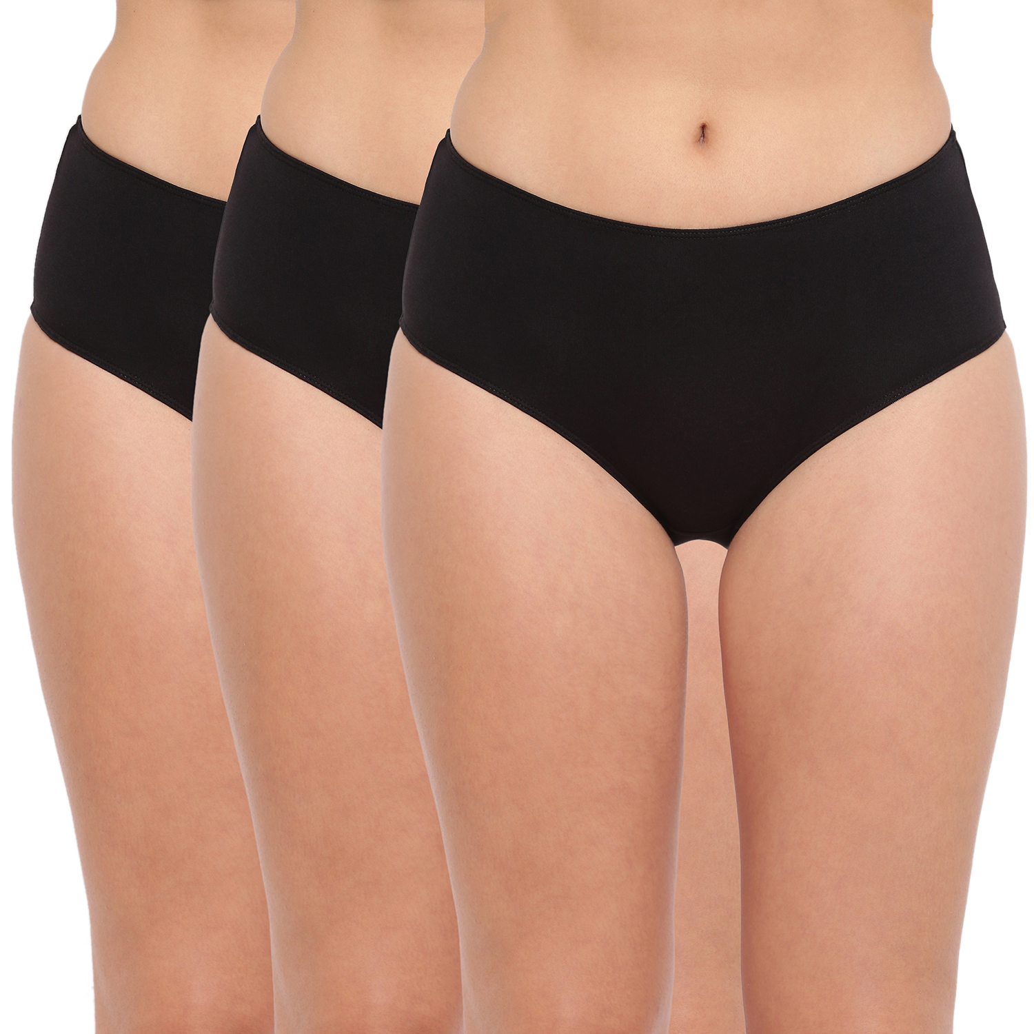 BASIICS by La Intimo | Tease 2 Please Hipster/ Full Brief Black(Pack of 3)