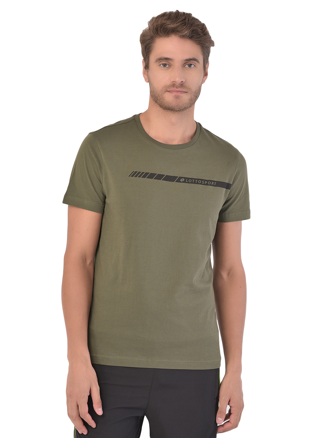 Lotto | Lotto Men's Dinamico Iv Tee Bs Co Olive Green Tee