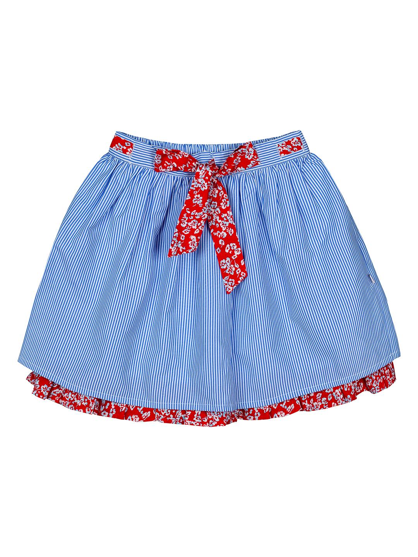 Budding Bees | Budding Bees Girls Blue & Red Skirt