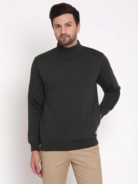 OCTAVE | Men DARK OLIVE Sweatshirts