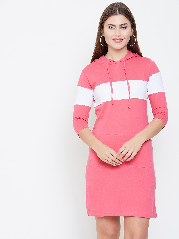 Jhankhi | Pink Colourblocked Shift Dress