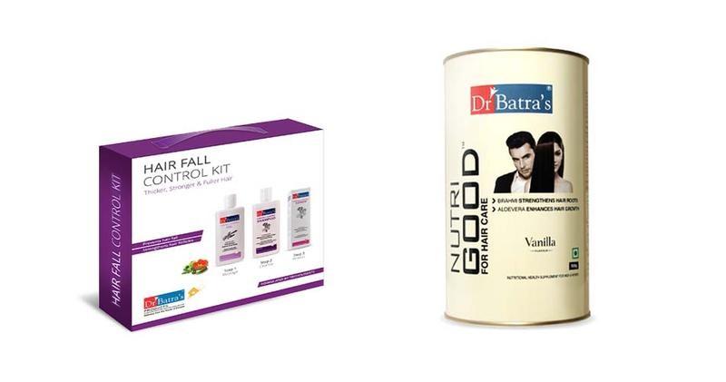 Dr Batra's | Dr Batra's Hair Fall Control Kit Thicker, Stronger & Fuller Hair - 525 ml and NutriGood For Hair Care