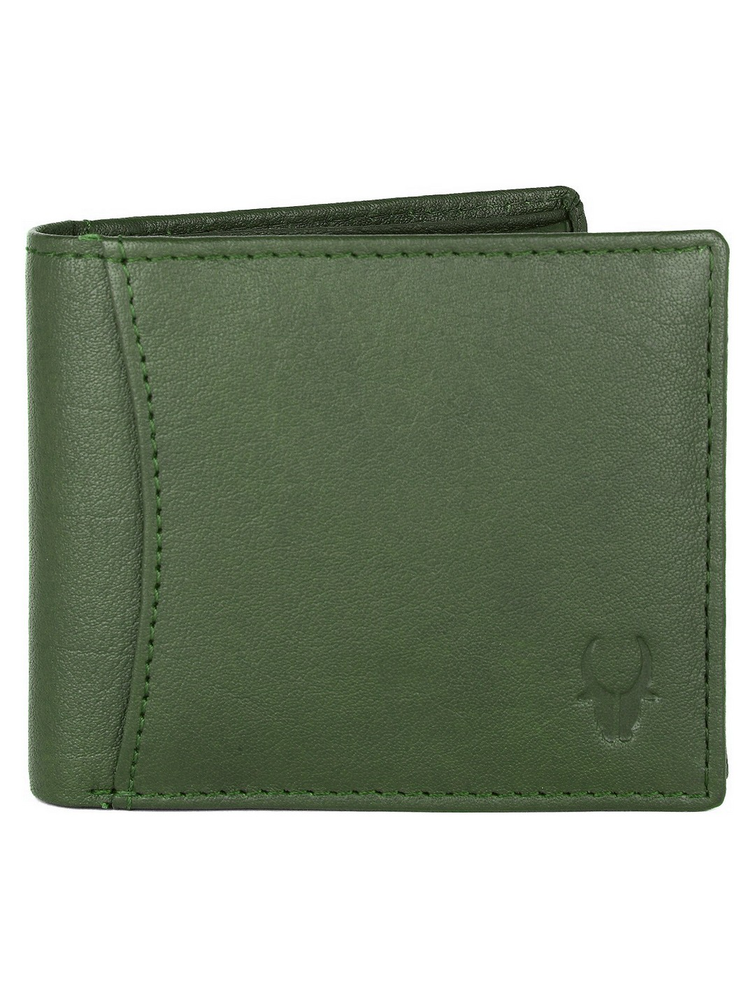 WildHorn | WildHorn RFID Protected Genuine High Quality Leather Green Wallet for Men