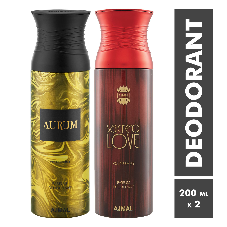 Ajmal | Aurum Femme and Sacred Love Deodorant Spray - Pack of 2