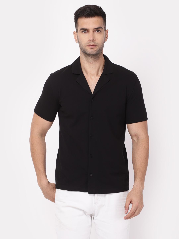 YOONOY | Men Cuban Collar knit shirt