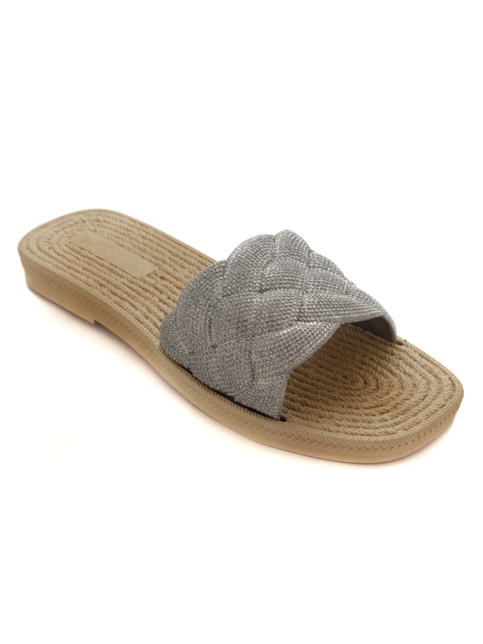 Trends & Trades   Trends & Trades Fancy SILVER Anti Slip Flats