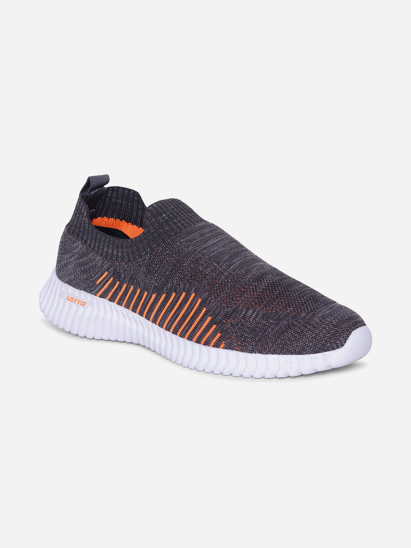 Lotto | Lotto Men's Savino Dark Grey/Orange Sneakers