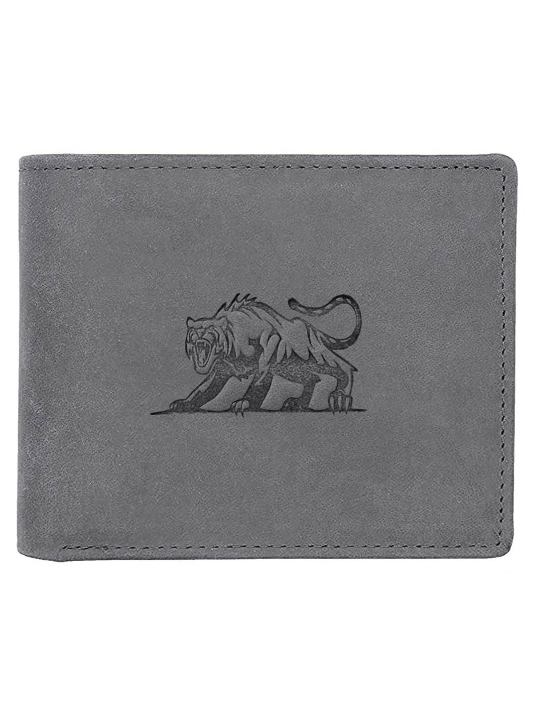WildHorn   WildHorn RFID Protected Genuine High Quality Leather Grey Wallet for Men