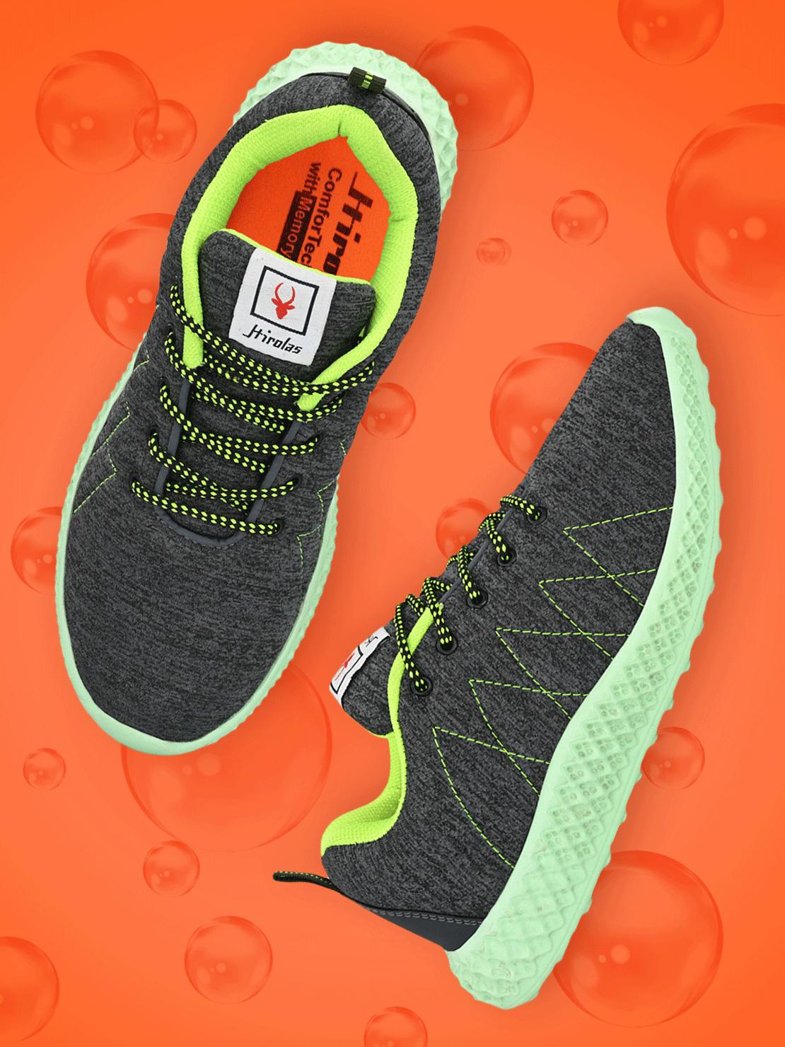 Hirolas | Hirolas® Men's Mesh Grey Running/Walking/Gym/Jogging Sports Sneaker Shoes