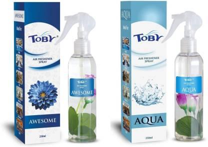 Toby | TOBY Awesome & Aqua Air Freshener (Room Spray) - (250mlx2)