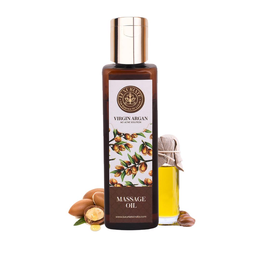 LUXURIATE   LUXURIATE 100% Pure Natural Virgin Argan Oil for Hair and Skin,100 ml