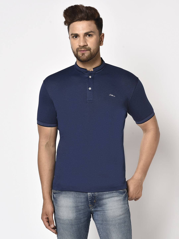 OCTAVE   Men INDIGO T-Shirts