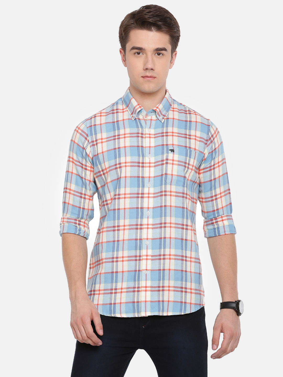 The Bear House   TBH Button-down Flannel Shirt