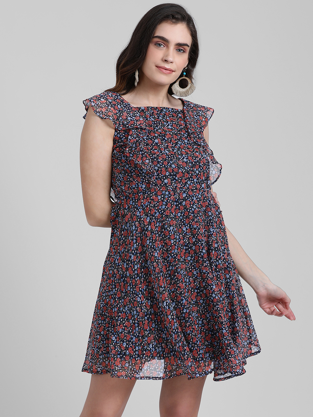 Zink London | Zink London Women's Multi Solid Fit and Flare Dress