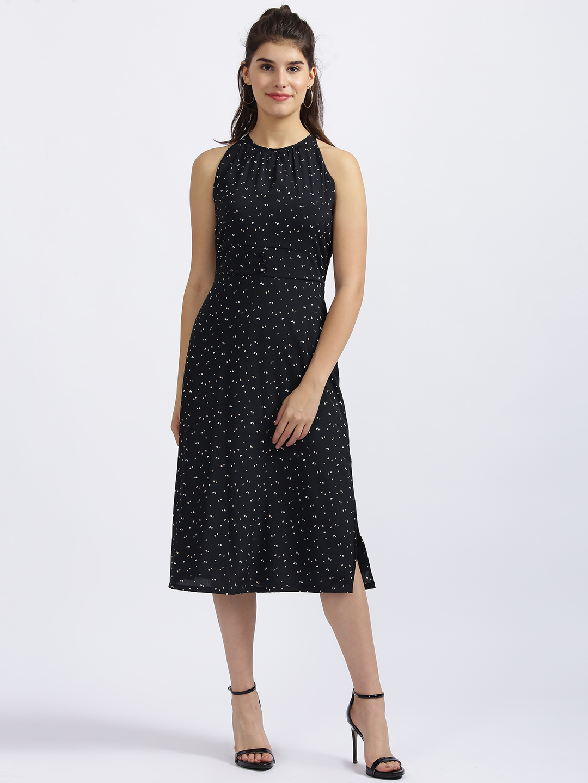 Zink London   Zink London Black Printed Sheath Dress
