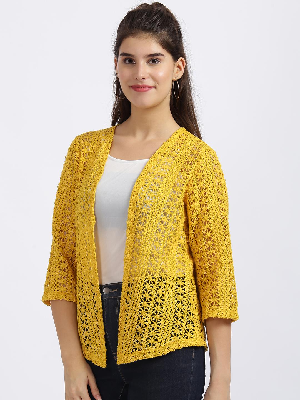 Zink London | Zink London Yellow Embroidered Regular Shrug