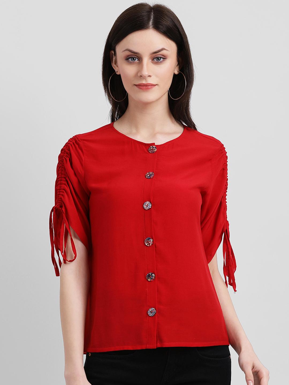 Zink London | Zink London Red Blouson Top for Women