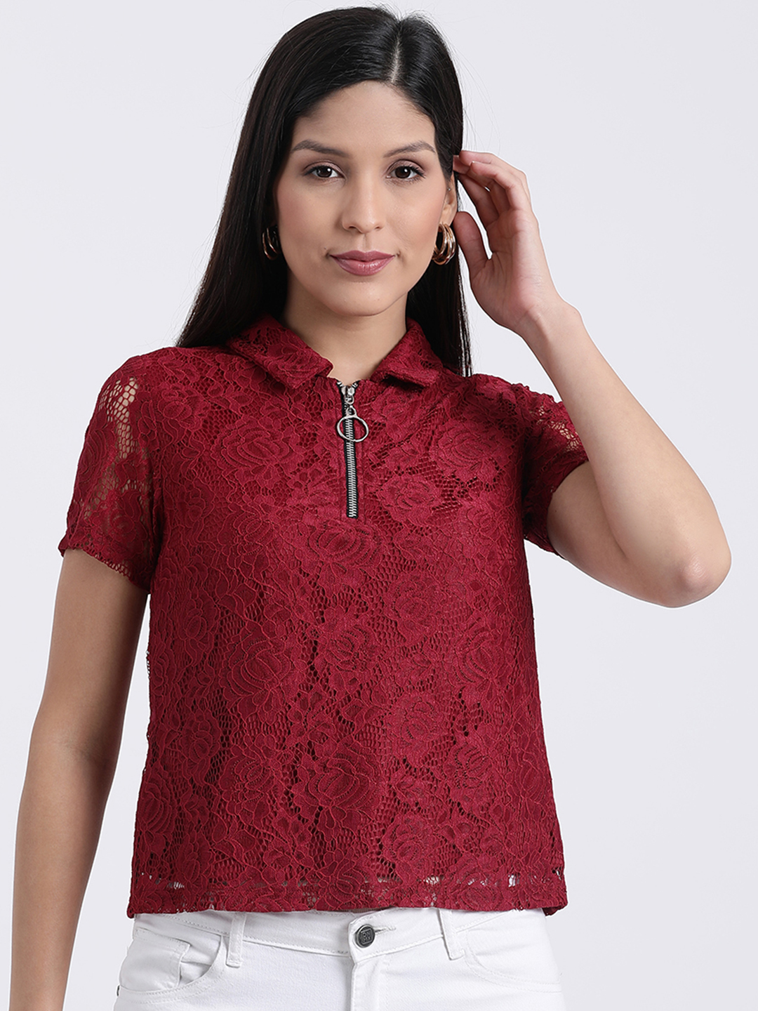 Zink London   Zink London Red Casual Shirts for Women