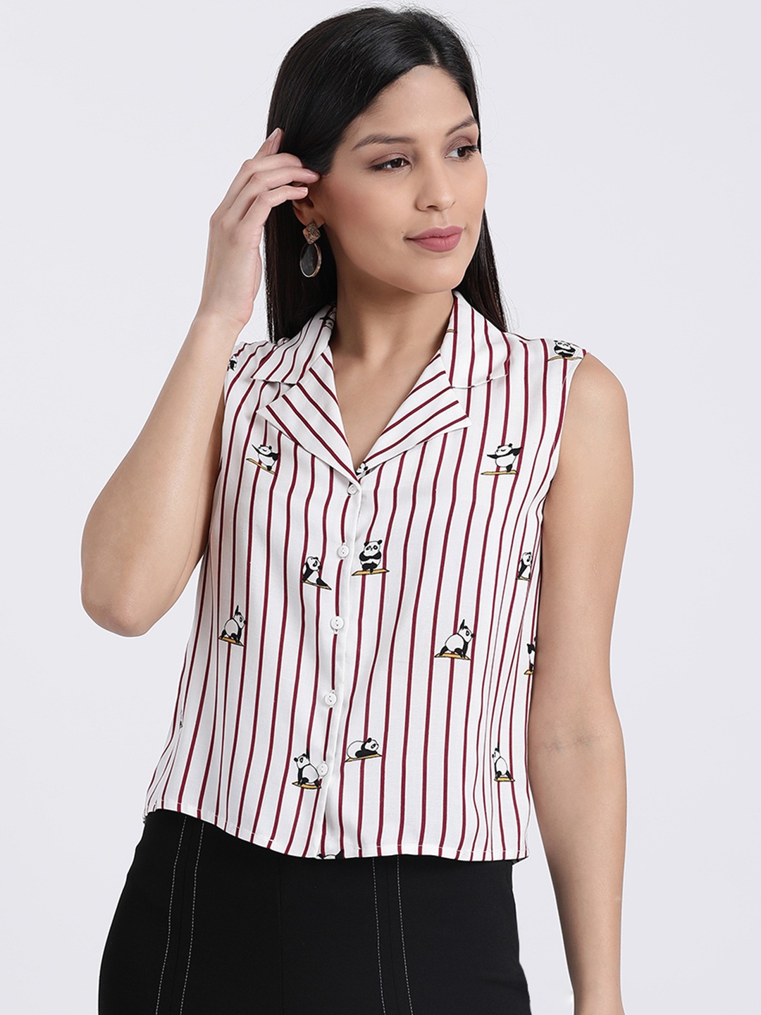 Zink London   Zink London White Casual Shirts for Women