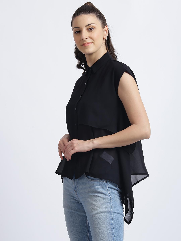 Zink London | Zink London Black Solid Regular Shirt