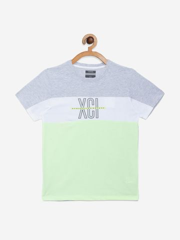 OCTAVE | Boys GREY MELANGE T-Shirts