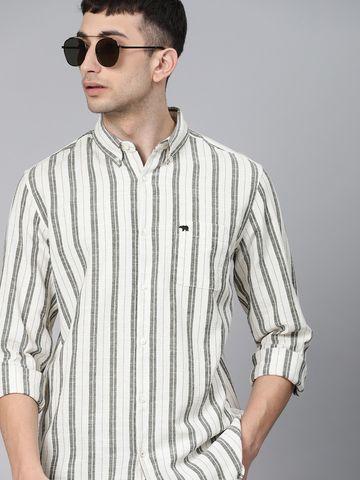 The Bear House   Men's Striped Casual Shirt