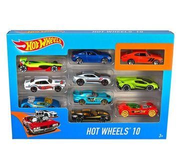 Hot Wheels | Hot Wheels Die Cast Cars Pack of 10 Vehicles for Kids age 3Y+