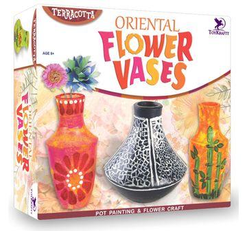 Toy Kraft   Toy Kraft Oriental Flower Vases DIY Art & Craft Kits for Kids age 8Y+