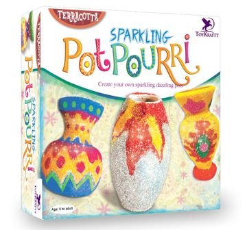 Toy Kraft   Toy Kraft Sparkling Pot Pourri DIY Art & Craft Kits for Kids age 8Y+