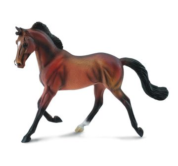 CollectA   Collecta Thoroughbred Mare Bay Animal Figure for Kids age 3Y+ (Brown)