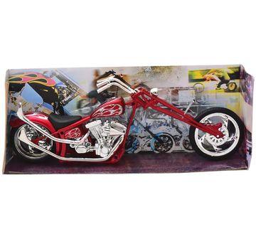 Newray   Newray Custom Bike 6 Assorted Styles 1:12 Vehicle for Kids age 5Y+ (Red)