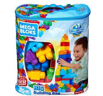 Mega Bloks   NE MEGABLOKS BIG BUILDING BAG 80PCS ASST