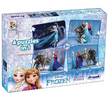 Frank | Frank Frozen 4 In 1 Puzzle