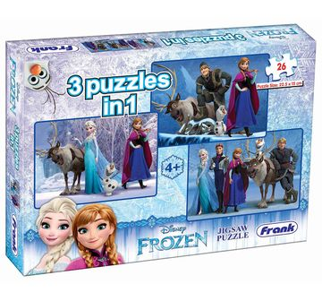 Frank | Frank Frozen 3 In 1 Puzzle