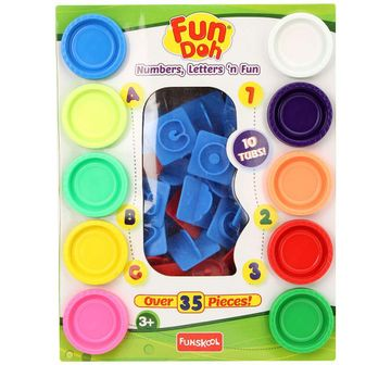 Fun-Dough   Fun Dough - Number, Letter And Fun Clay & Dough for Kids Age 3Y+