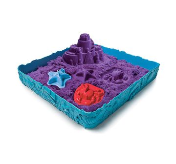 Kinetic Sand   Kinetic Sand Box And Mold Set, Multi Color Sand, Slime & Others for Kids age 4Y+