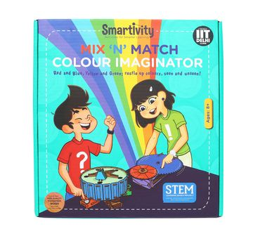 Smartivity | Smartivity Mix 'N' Match Colour Imaginator :  Stem, Learning, Educational and Construction Activity Toy Gift for Kids age 8Y+ (Multi-Color)