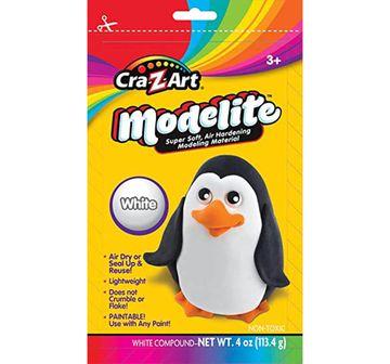 Cra-Z-Art   Craz-Art Crazart Modelite White Color 4 Oz for Kids age 3Y+
