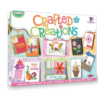 Toy Kraft   Toy Kraft Cards Crafted Creations DIY Art & Craft Kits for Kids age 7Y+