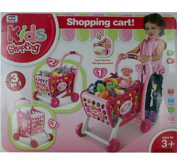 Comdaq | Comdaq Shopping Cart With Light And Music Playset for Girls age 3Y+ (Pink)