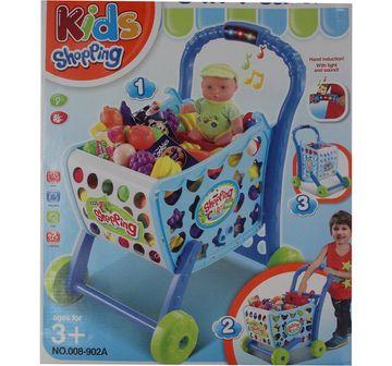 Comdaq   Comdaq Shopping Cart Playset with Light And Music for Girls age 3Y+ (Blue)