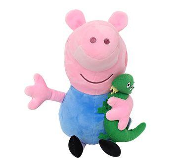 Peppa Pig   Peppa George Pig with Dinosaur 30 Cm Soft Toy for Kids age 2Y+ (Blue)