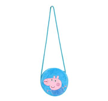 Peppa Pig   Peppa and George Pig Blue Soft Toy Wallet Round Shape, Multi Color Plush Accessories for Kids age 3Y+ 5.7 Cm